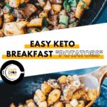 "Keto Breakfast ""Potatoes"" Pinterest Pin"