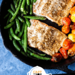 Skillet Salmon and Vegetables Pinterest Image