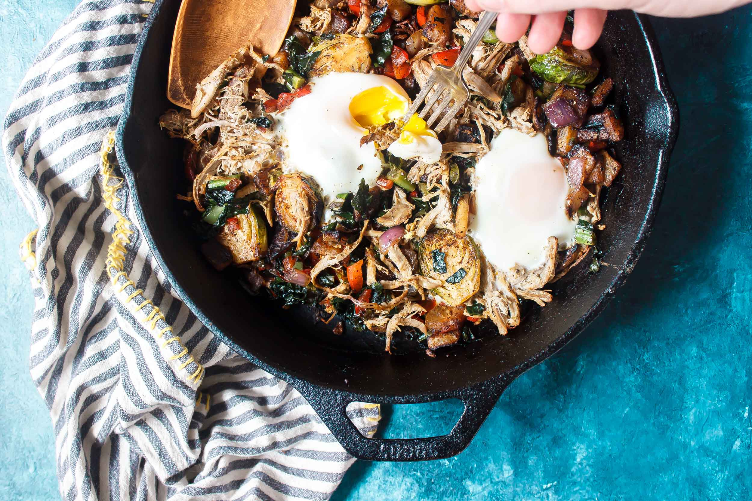 Keto Breakfast Hash with Pulled Pork