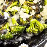 Charred Keto Broccoli Pinterest Collage