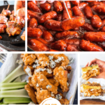 Keto Super Bowl Recipes Pinterest Collage