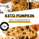 Keto Pumpkin Blondies