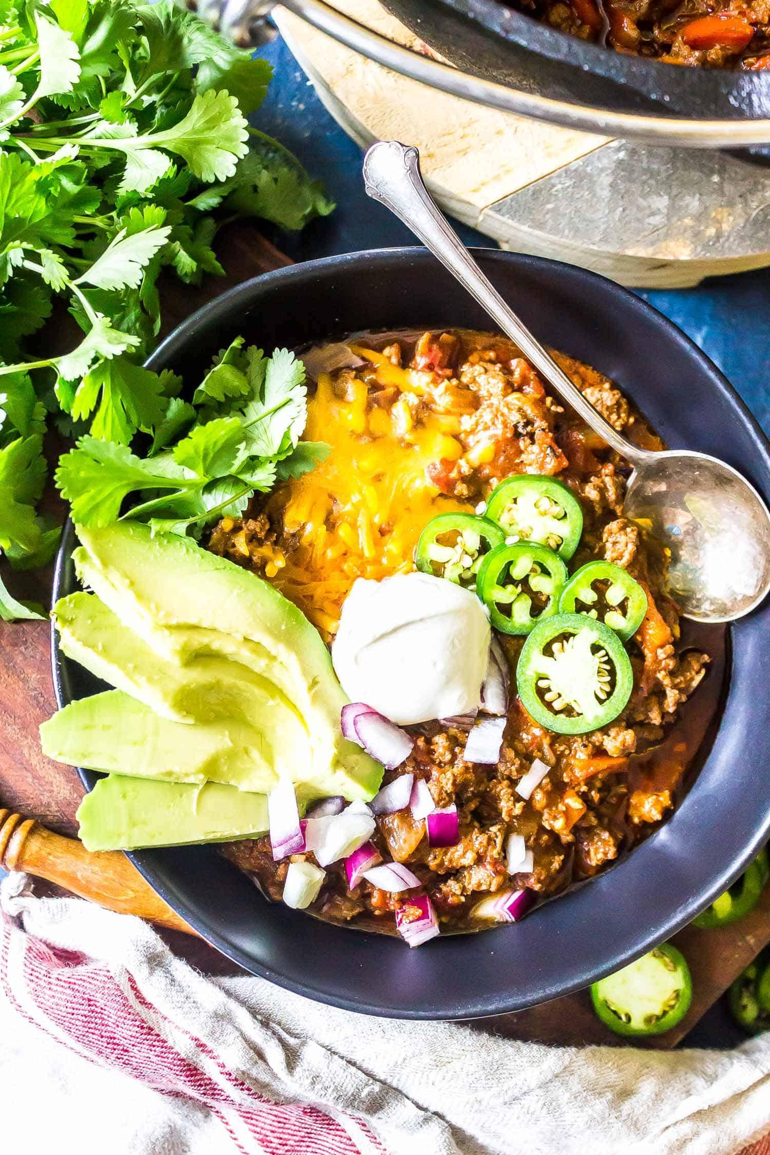 Keto Chili No Bean Easy Recipe Cast Iron Keto