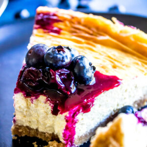 Keto Cheesecake with a bite missing