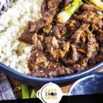 Keto Mongolian Beef Pinterest Graphic