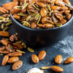 Chai Spiced Mixed Nuts Pinterest Collage
