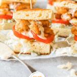 Keto Shrimp Po' Boy Sliders Pinterest Collage