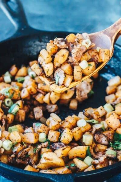 """Keto Breakfast """"Potatoes"""" in spoon"""