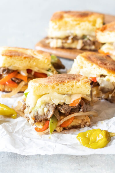 Keto Philly Cheesesteak Sliders