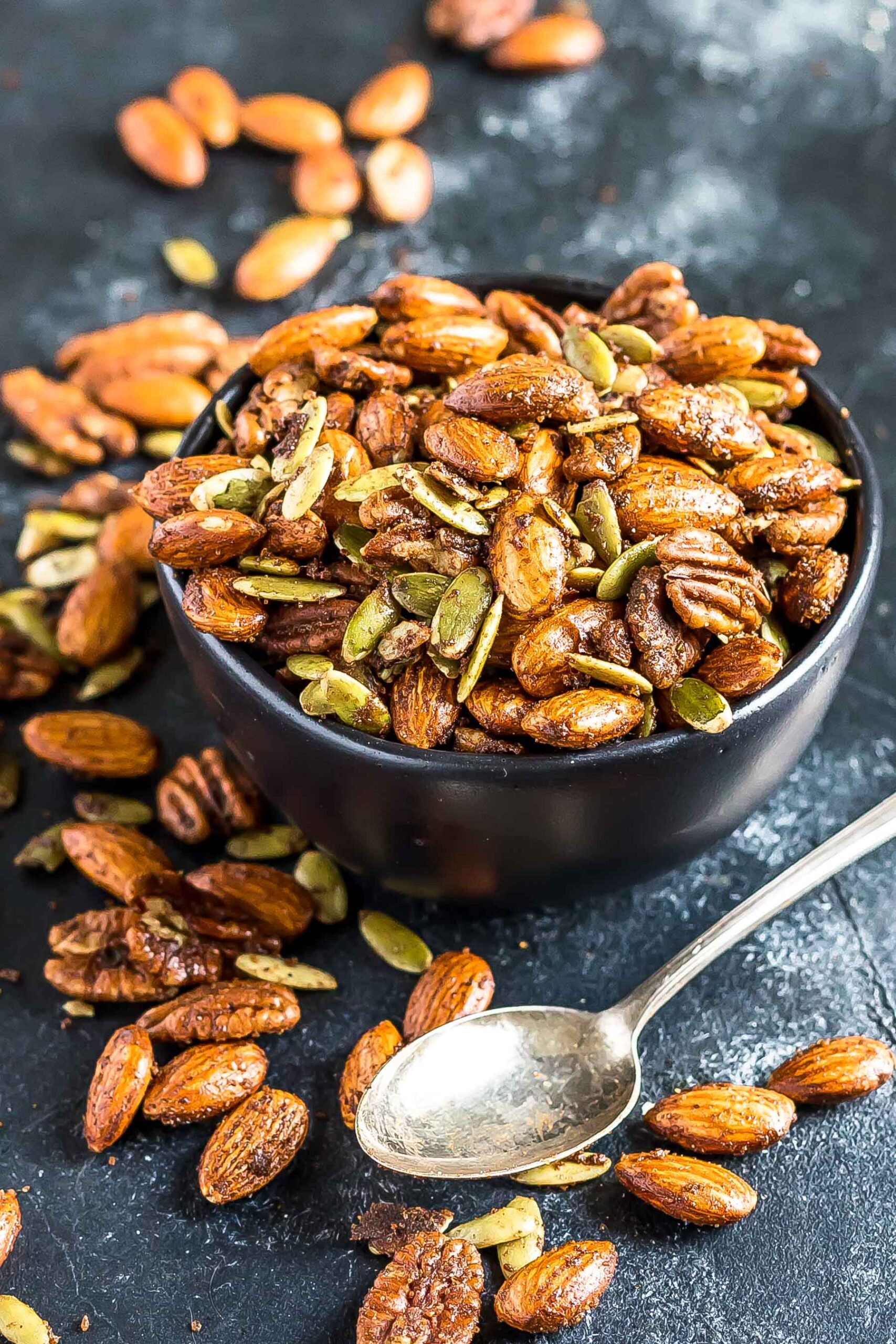 Chai Spiced Mixed Nuts in bowl