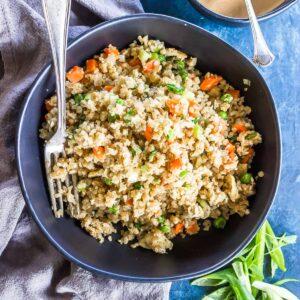 Keto Fried Rice in bowl