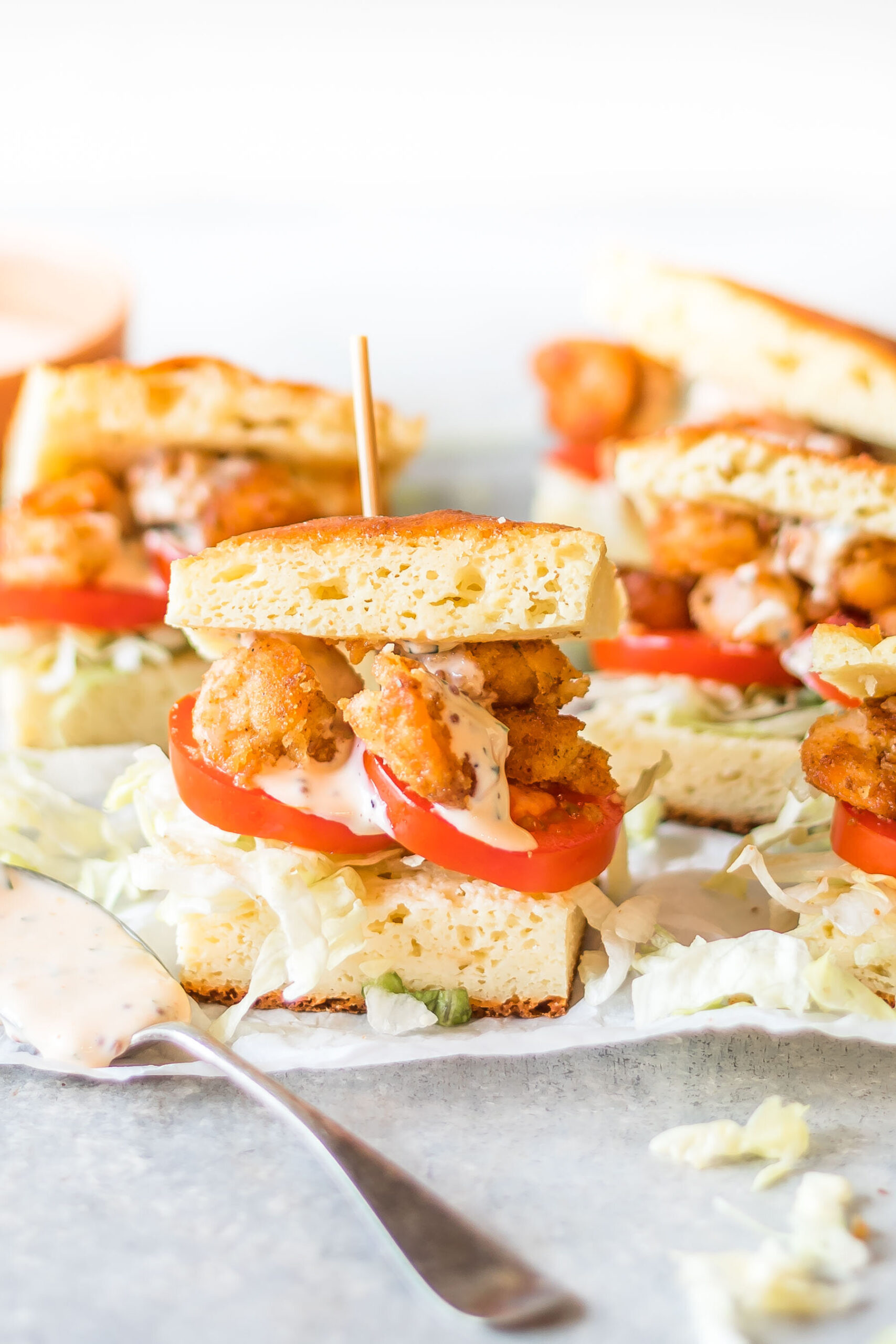 Keto Shrimp Po' Boy Sliders