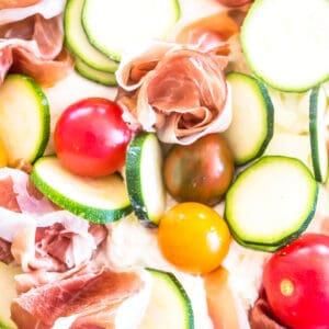Keto Skillet Market Pizza close-up