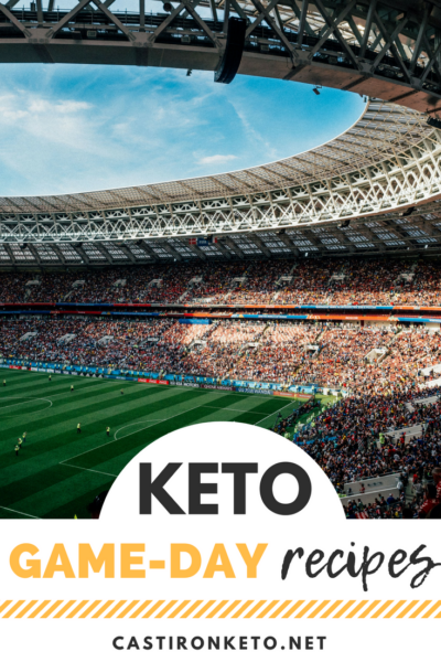 Keto Game Day Recipes Pinterest Collage
