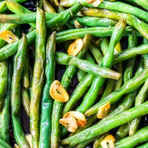 Close up Garlic Butter Green Beans