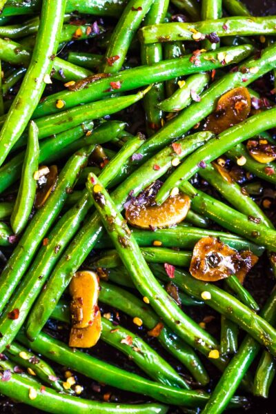 Closeup image of Keto Asian Green Beans