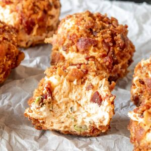 Keto Buffalo Chicken Fat Bombs with a bite taken out of it