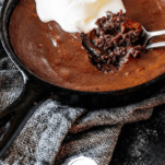 Keto Chocolate Molten Lava Skillet Cake for 2