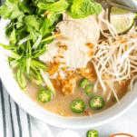 Keto Vietnamese Chicken Soup Pinterest Collage