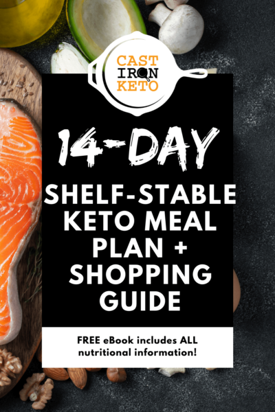 day shelf-stable keto meal plan Pinterest Graphic