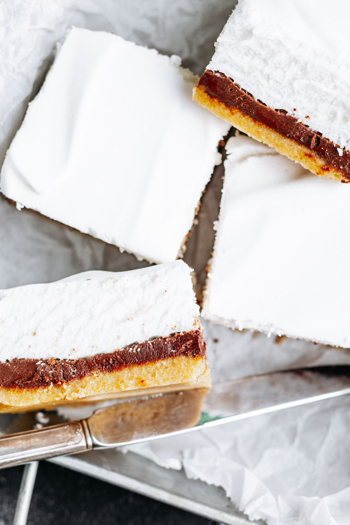 Keto S'mores Bars in a serving tray