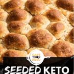 Seeded Keto Rolls Pinterest Pin