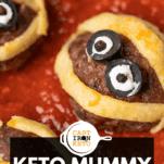 Mummy Meatballs Pin