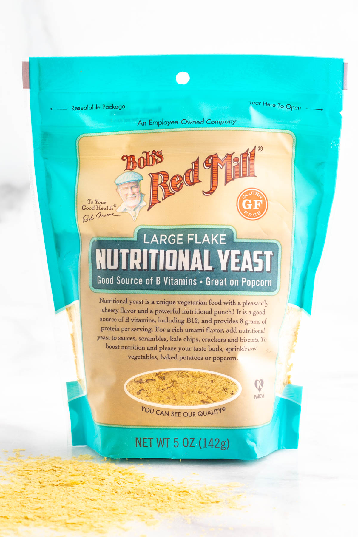 Bob's Red Mill nutritional yeast packaging