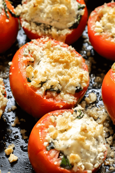 Three Cheese Baked Tomatoes